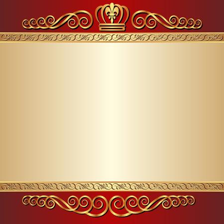 rode en gouden achtergrond met ornamenten