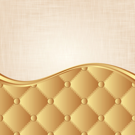 golden background with fabric texture Vector