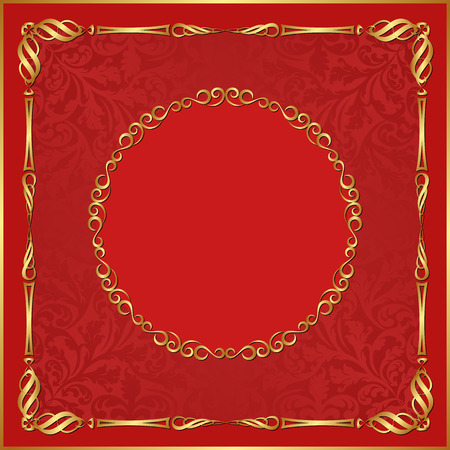 background red: roten Hintergrund mit Ornamenten Illustration