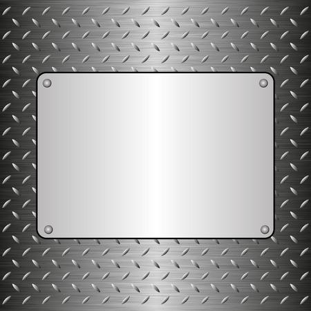 steel sheet: steel sheet with metallic plaque