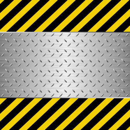 Symbol der Gefahr mit Metallplatte