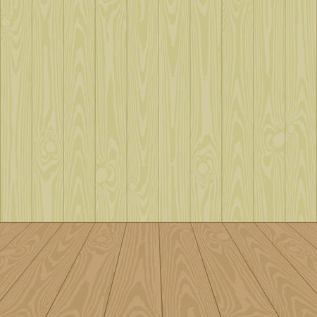 wooden floor: wooden floor and wall