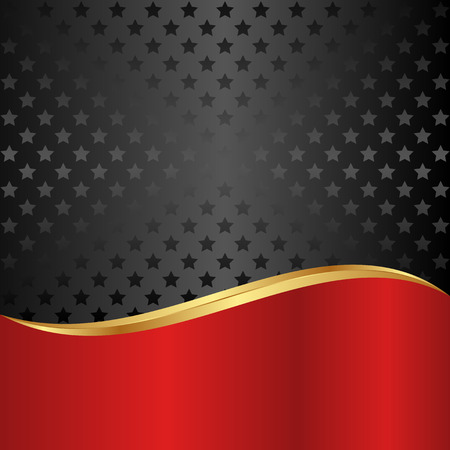 black and red background with stars Vector