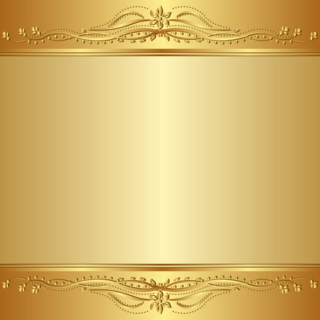 ornamental background: golden  background with floral ornaments
