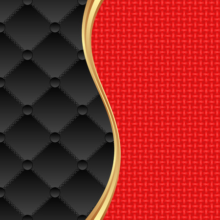 black and red background with textile texture Illustration
