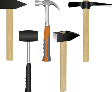 trenching: set of hammers