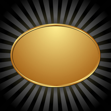 gold plaque: black background with golden banner