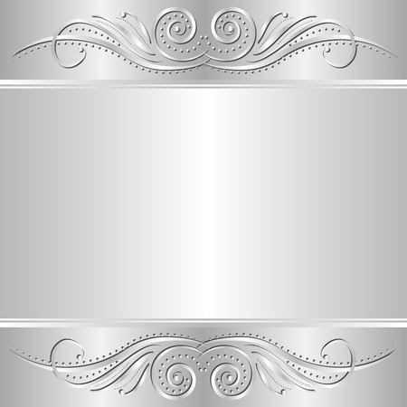 silver background with ornament