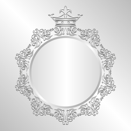 crown of light: silver background with crown
