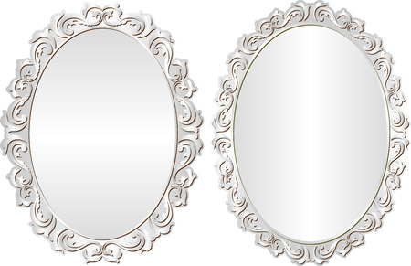 silver frames with decorative border