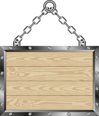 catena: wooden plaque hanging on a chain