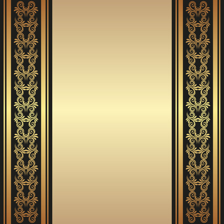 classical arts: golden background with ornaments Illustration