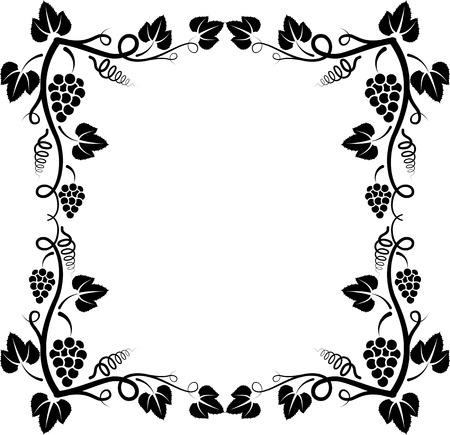 silhouette of grapevine frame