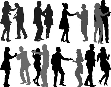 bailarines silueta: siluetas de bailarines