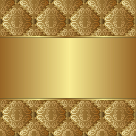quilted fabric: golden background