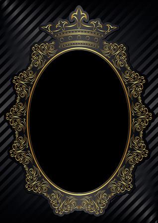 royal frame: black background with royal frame