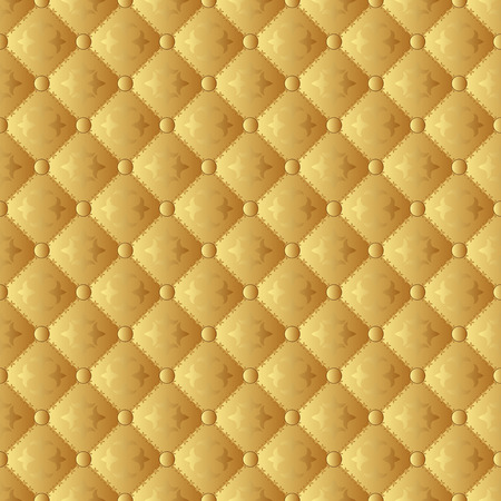 quilted fabric: golden pattern seamless or wallpaper