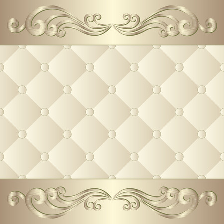 upholstered: decorative background with ornament