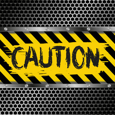 hazard tape: background with yellow and black caution signs