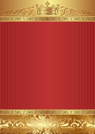 reflective background: ornate background with crown