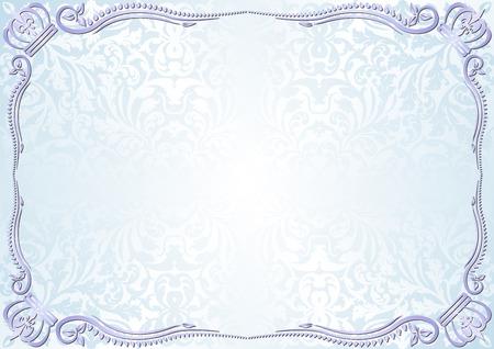 couronne royale: fond bleu de la lumière millésime Illustration