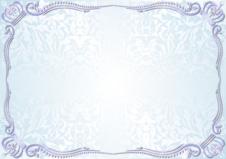 royal wedding: vintage light blue background