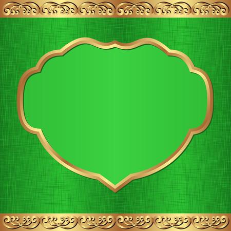 dinner date: vintage green background