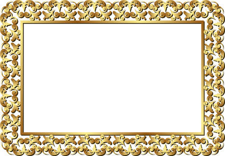 golden frame: isolated golden frame