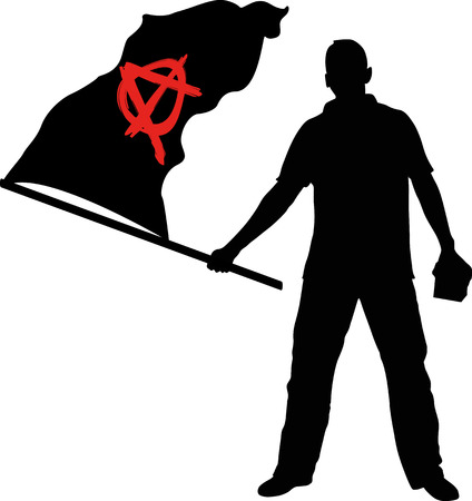 anarchy: man with anarchy flag
