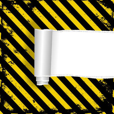 barrier tape: torn danger background Illustration
