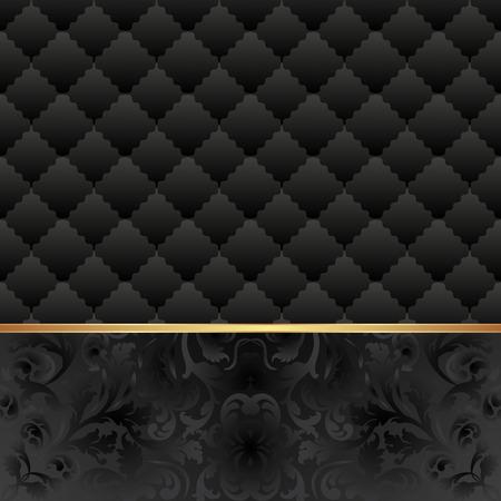 black vintage background Illustration
