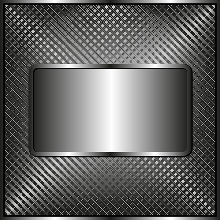 grid: grid texture with metallic plaque