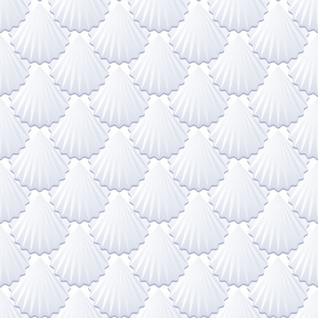 background with shells or tile pattern seamless