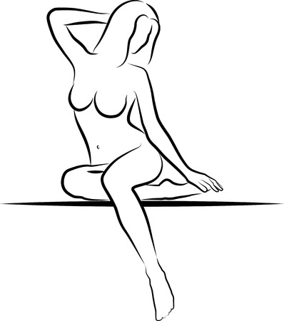 sketch of woman sitting