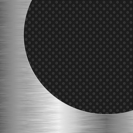 shone: black and metallic background