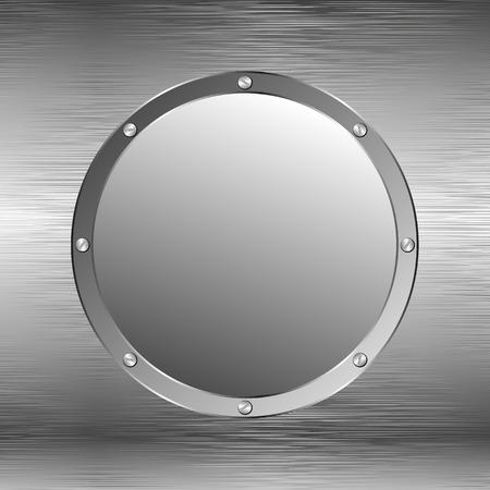 shone: metallic background with round banner Illustration