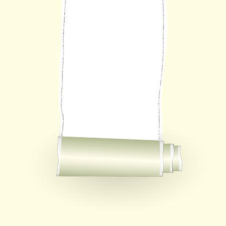 teared: teared paper Illustration