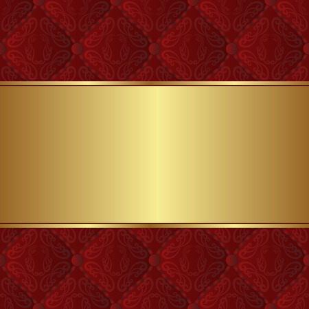 claret red: claret and golden background with vintage ornaments