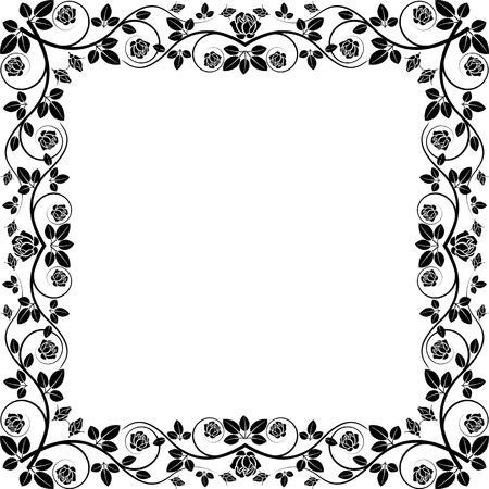quadratic: silhouette telaio rose