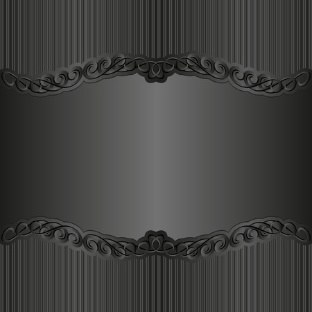 black background with ornaments Stok Fotoğraf - 36465804