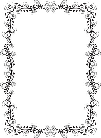 orthogonal: floral frame with narcissi Illustration