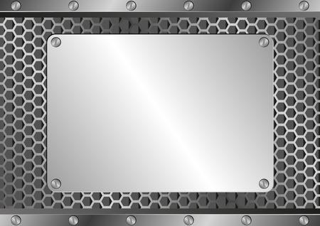 metallic background: metallic background with iron plaque
