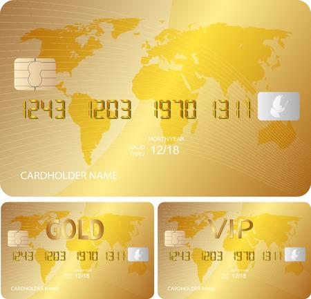golden credit card Illustration