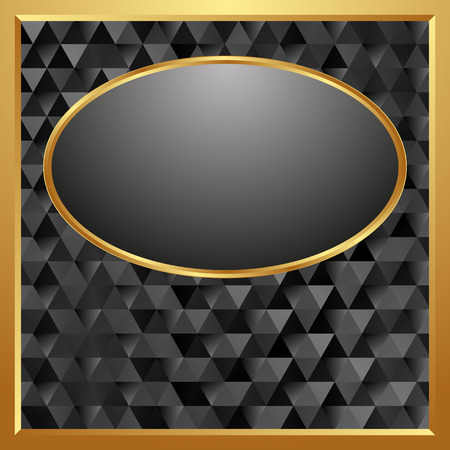 golden frame: dark background with golden frame Illustration