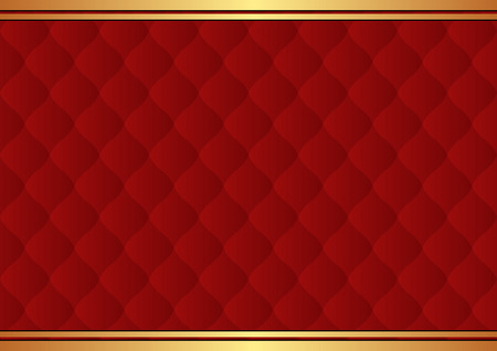 quilted fabric: dark red background with pattern Illustration