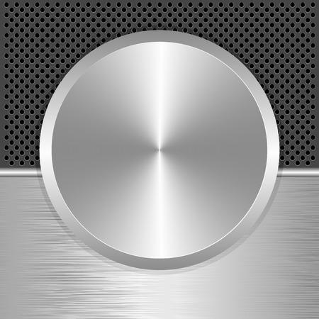 potentiometer: silver potentiometer as banner Illustration