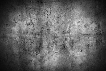 concrete: grunge concrete wall background with vignette Stock Photo