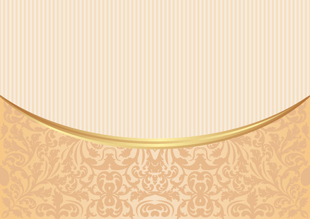 ecru: vintage background with abstract pattern Illustration