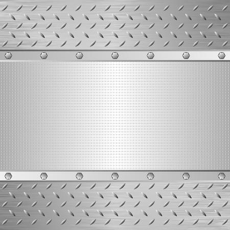 industrial sheet iron: iron background and metallic texture Illustration
