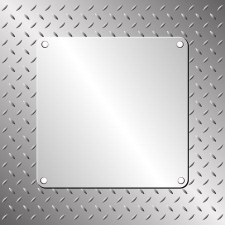piastra acciaio: lamiera di acciaio e metallo modello Vettoriali